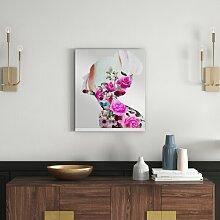 Gerahmtes Glasbild Aus Blumen erschaffen Oliver Gal