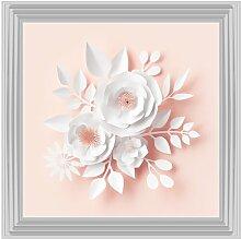 Gerahmtes Glasbild Blüten in Pink Maison Alouette