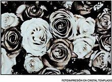 Gerahmtes Glasbild Blumen Bloomsbury Market