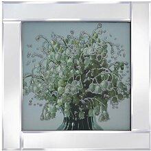 Gerahmtes Glasbild Blumen Ebern Designs