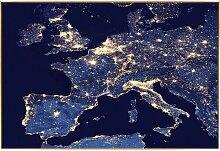 Gerahmtes Glasbild Europäische Lichter East Urban