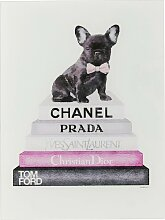 Gerahmtes Glasbild Fashion Dog KARE Design
