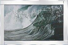 Gerahmtes Glasbild Glitzernde Wellen Longshore