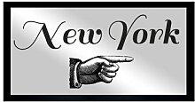 Gerahmtes Glasbild New York Oliver Gal
