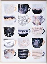 Gerahmtes Glasbild Pretty Coffee Cups von