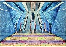Gerahmtes Glasbild Rolltreppe KARE Design