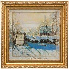 Gerahmtes Glasbild Winterlandschaft von Claude
