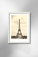 Gerahmtes Holzbild Eiffelturm Paris