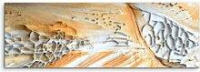 Gerahmtes Leinwandbild Gemusterter Sandstein aus