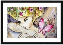 Gerahmtes Leinwandbild Schmetterling-Prinzessin