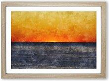 Gerahmtes MDF-Bild Ein orangefarbener