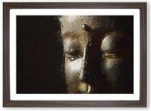"Gerahmtes MDF-Bild - Grafikdruck ""Golden Buddha"