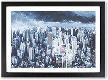 Gerahmtes MDF-Bild Moody New York City Skyline