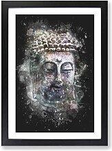 Gerahmtes MDF-Bild Peaceful Buddha