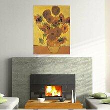 Gerahmtes MDF-Bild Sonnenblumen von van Gogh