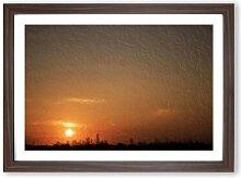 Gerahmtes MDF-Bild Sunrise over New York City