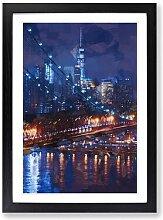 Gerahmtes MDF-Bild View of New York City in
