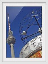 Gerahmtes Papierbild Berlin Alexanderplatz East