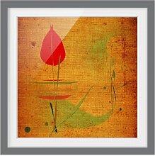Gerahmtes Papierbild China Pflanze