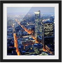 Gerahmtes Papierbild Frankfurt East Urban Home