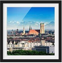 Gerahmtes Papierbild München East Urban Home