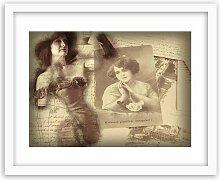 Gerahmtes Poster Antikes Foto einer Frau 17 Stories