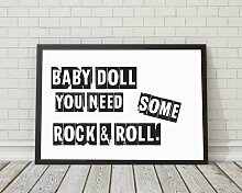 Gerahmtes Poster Baby Doll You Need Some Rock and
