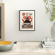 Gerahmtes Poster Battleship Potemkin Kinoplakat