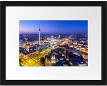Gerahmtes Poster Berlin City Panorama East Urban