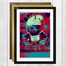 "Gerahmtes Poster ""Berlin Wall"", Grafikdruck"