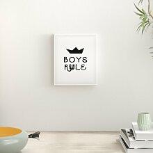 Gerahmtes Poster Boys Rule East Urban Home