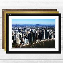 Gerahmtes Poster Brisbane Australien Skyline,