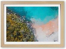 Gerahmtes Poster Ein Strand in Sydney Australien