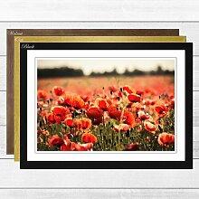 Gerahmtes Poster Flower Poppy Field Landscape,