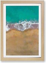 Gerahmtes Poster Gold Coast Beach in Australien