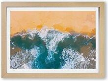 Gerahmtes Poster Golden Beach in Australien East