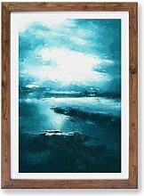 Gerahmtes Poster Luftbild von der Isle of Skye in