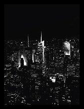 Gerahmtes Poster Monochromes Skyline-Foto
