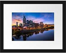 Gerahmtes Poster Nashville Skyline Panorama East
