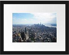 Gerahmtes Poster New York City Panorama East Urban