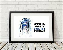 Gerahmtes Poster Star Daddy You R2 Awesome East