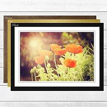 Gerahmtes Poster Vintage Poppy Field Flower,