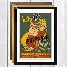 Gerahmtes Poster WPA Preserve Food, Retro-Werbung
