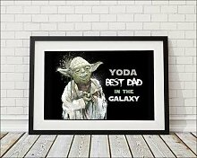 Gerahmtes Poster Yoda Best Dad In The Galaxy East