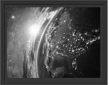 Gerahmtes Wandbild 3D-Rendering der Erde East