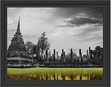 Gerahmtes Wandbild atemberaubender Buddha Tempel