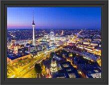 Gerahmtes Wandbild Berlin City Panorama East Urban