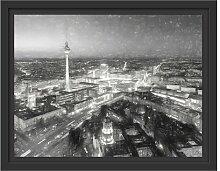 Gerahmtes Wandbild Berlin City Panorama Kunst East