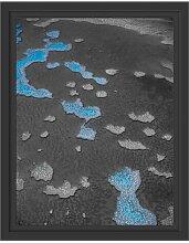 Gerahmtes Wandbild blaue Korallenriffe Australien