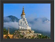 Gerahmtes Wandbild Buddha-Skulptur in Thailand